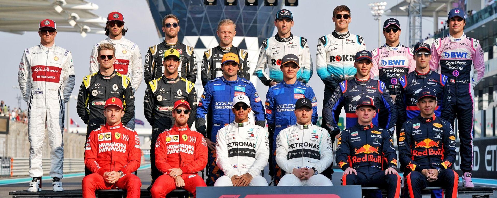 F1 GP Abu Dhabi 2019, Tutti i piloti del mondiale