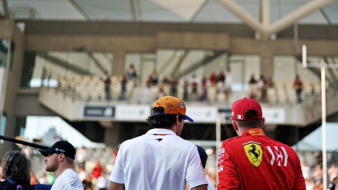 F1 GP Abu Dhabi 2019, Yas Marina: Carlos Sainz (McLaren) e Charles Leclerc (Ferrari)