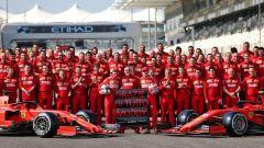 F1 GP Abu Dhabi 2019, Yas Marina: foto di gruppo Ferrari