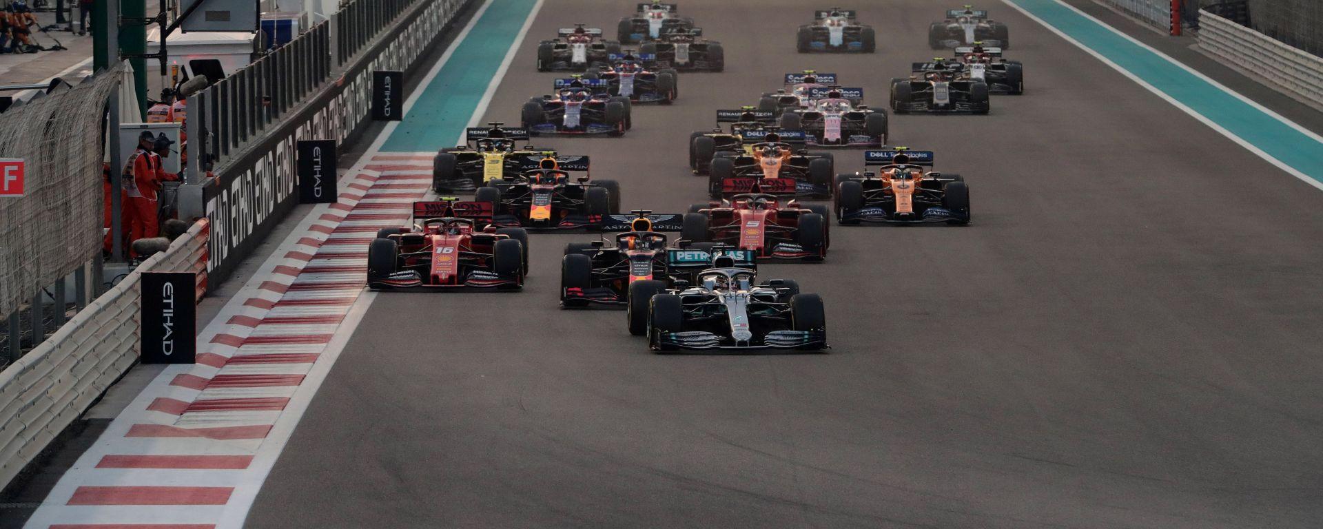 F1 GP Abu Dhabi 2019, Yas Marina: la partenza della gara