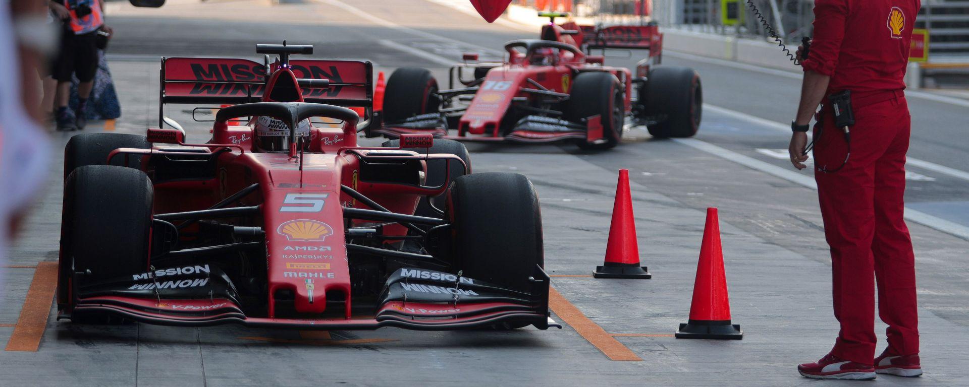 F1 GP Abu Dhabi 2019, Yas Marina: Sebastian Vettel e Charles Leclerc (Ferrari)