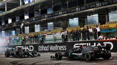 F1, GP Abu Dhabi 2020: le Mercedes di Lewis Hamilton e Valtteri Bottas