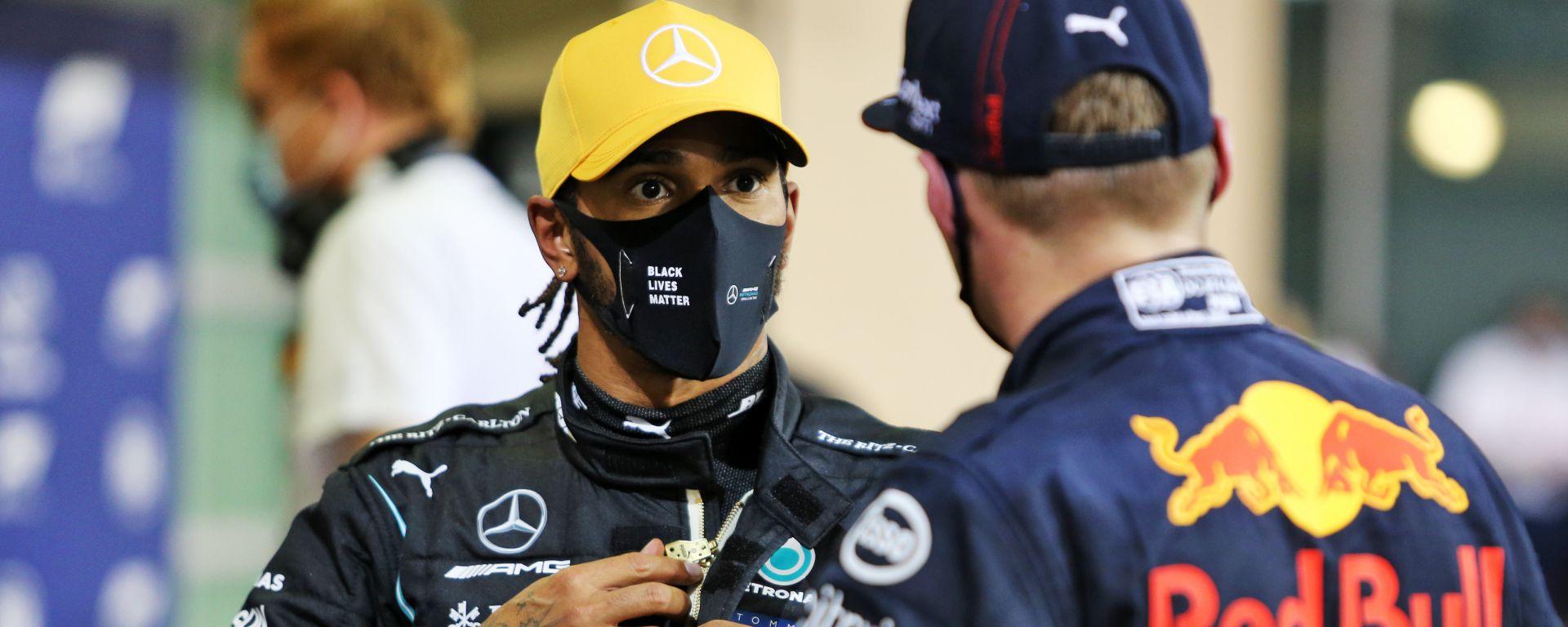 F1. GP Abu Dhabi 2020: Lewis Hamilton (Mercedes) e Max Verstappen (Red Bull)