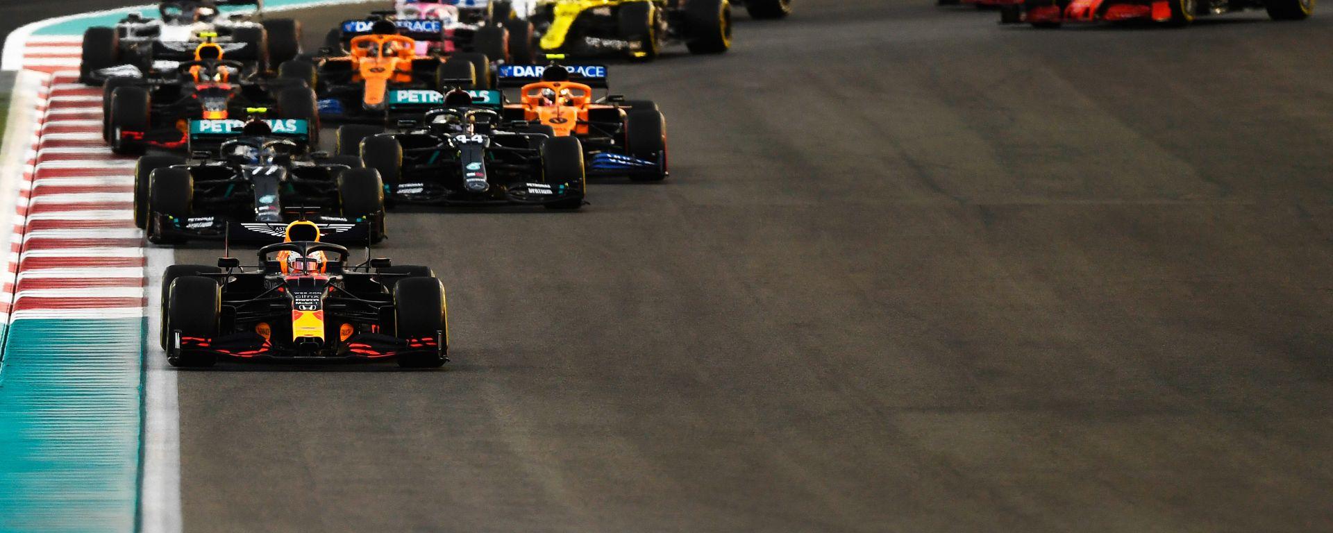 F1 GP Abu Dhabi 2020, Yas Marina: la partenza della gara