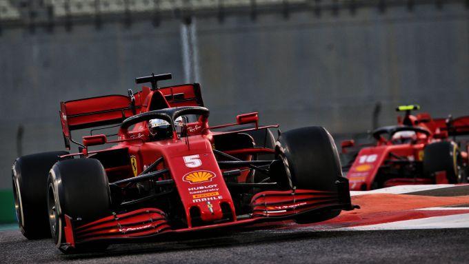 F1 GP Abu Dhabi 2020, Yas Marina: Sebastian Vettel e Charles Leclerc (Scuderia Ferrari)