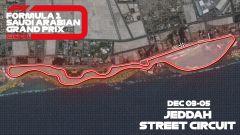 F1 GP Arabia Saudita 2021, Jeddah: il layout della pista