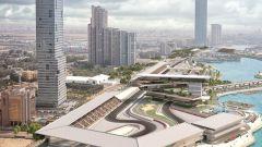 F1 GP Arabia Saudita 2021, Jeddah: render 3D della pista