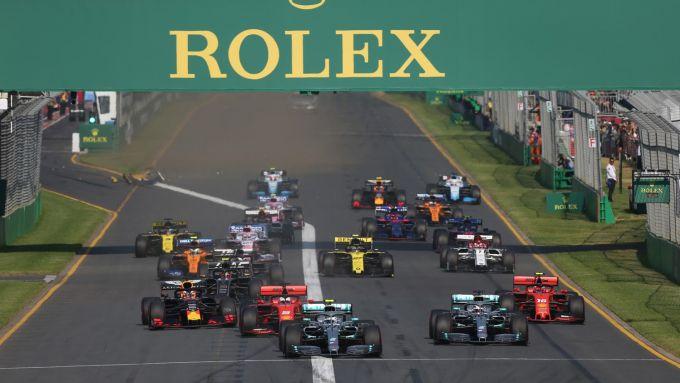 F1 GP Australia 2019, la partenza della gara