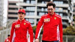 F1 GP Australia 2019, Melbourne: Charles Leclerc (Ferrari) e Mattia Binotto