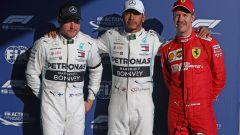 F1 GP Australia 2019, qualifiche: Bottas e Hamilton (Mercedes), Vettel (Ferrari)