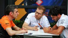 F1, GP Australia 2020: Andrea Stella, Andreas Seidl e Carlos Sainz (McLaren)