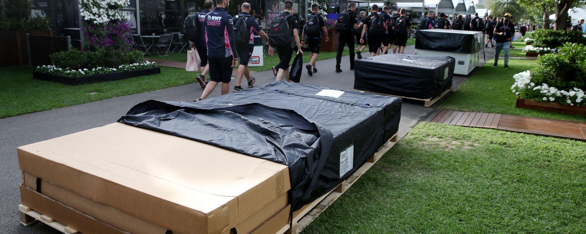 F1, GP Australia 2020: il materiale dei team pronto per essere rispedito in Europa