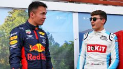 F1 GP Australia 2020, Melbourne: Alexander Albon (Red Bull) e George Russell (Williams)