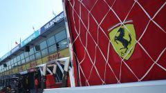 F1 GP Australia 2020, Melbourne: attrezzatura Ferrari nel paddock dell'Albert Park
