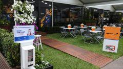 F1 GP Australia 2020, Melbourne: l'hospitality McLaren vuota nella mattinata di venerdì