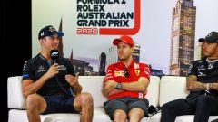 F1 GP Australia 2020, Melbourne: Sebastian Vettel (Ferrari), Lewis Hamilton (Mercedes), Nicholas Latifi (Williams)