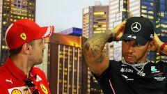 F1 GP Australia 2020, Melbourne: Vettel (Ferrari) e Hamilton (Mercedes) in conferenza stampa