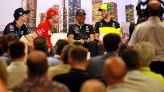 F1, GP Australia 2020: Nicholas Latifi (Williams), Sebastian Vettel (Ferrari), Lewis Hamilton (Mercedes) e Daniel Ricciardo (Ren