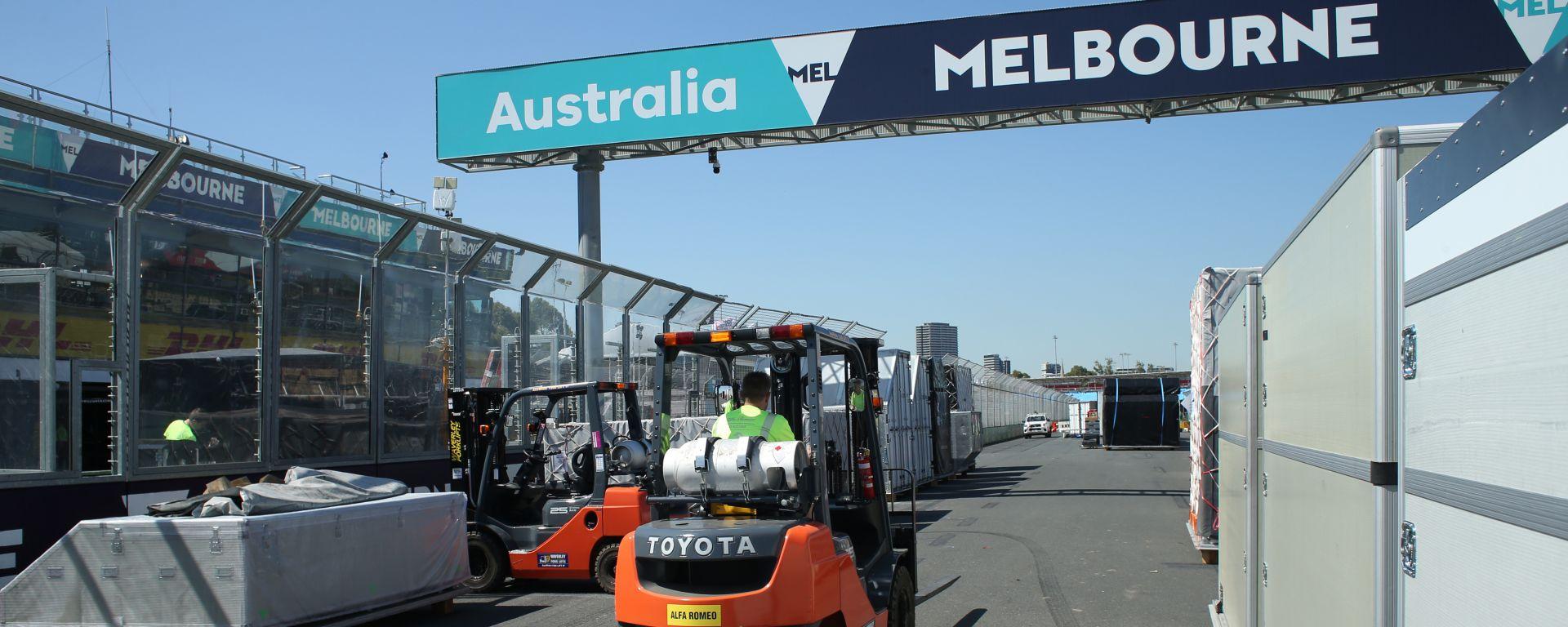 F1, GP Australia 2020: preparativi sul circuito dell'Albert Park a Melbourne