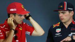 F1 GP Austria 20019, Charles Leclerc (Ferrari) e Max Verstappen (Red Bull)