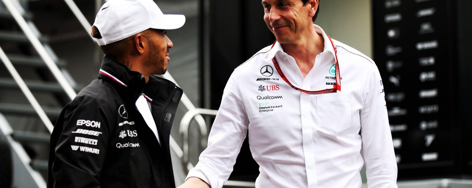 F1, GP Austria 2018: Lewis Hamilton e Toto Wolff (Mercedes)