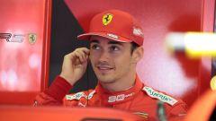 F1 GP Austria 2019, Charles Leclerc sorride ai box