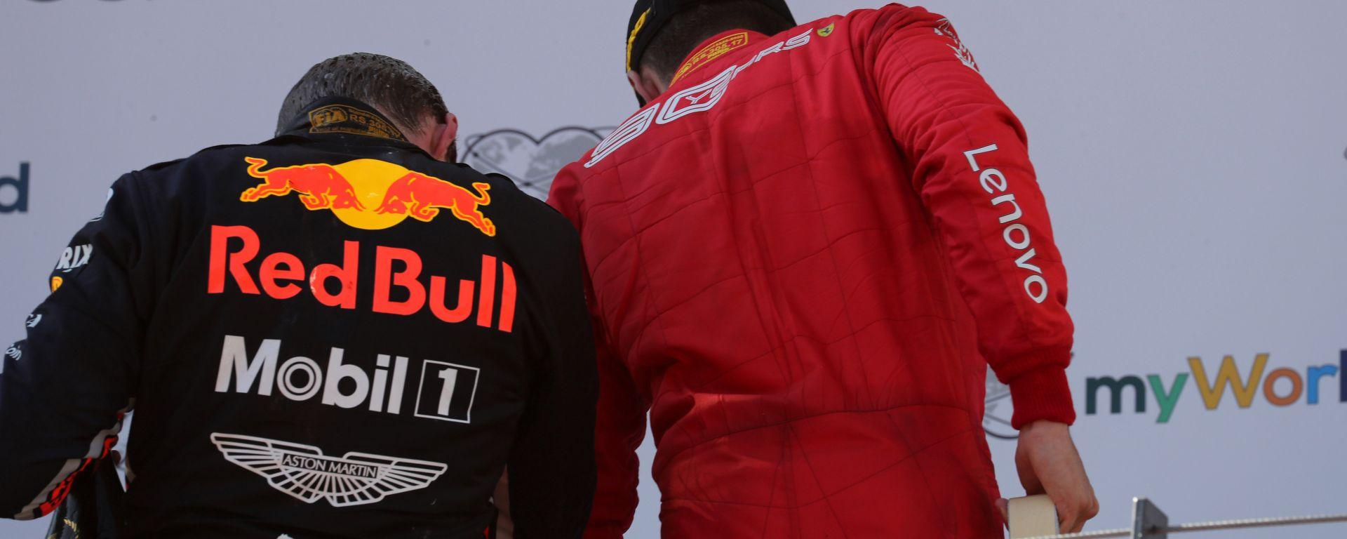 F1 GP Austria 2019, Leclerc e Verstappen sul podio del Red Bull Ring