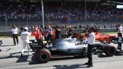 F1 GP Austria 2019, Lewis Hamilton si complimenta con Leclerc dopo la Q3