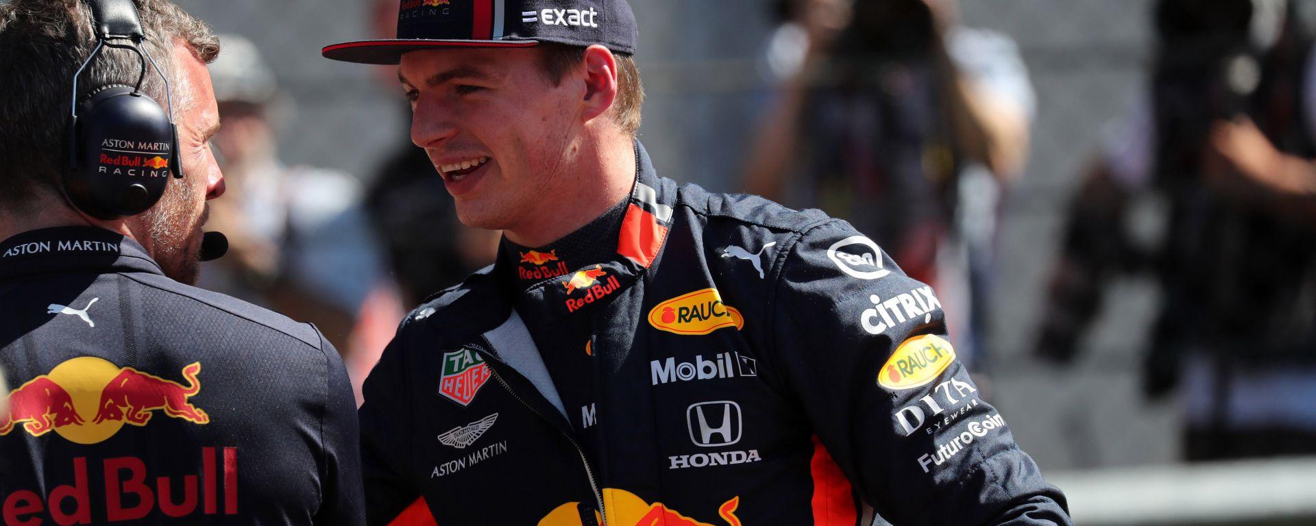 F1 GP Austria 2019, Max Verstappen sorridente dopo le qualifiche
