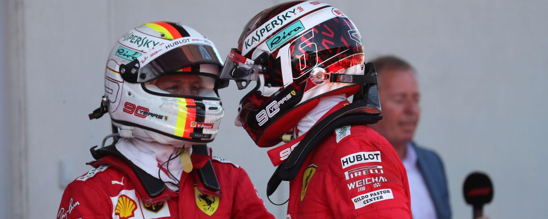 F1 GP Austria 2019, Vettel si congratula con Leclerc dopo il secondo posto in gara