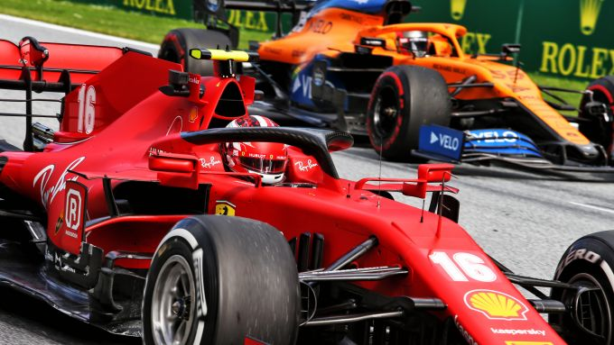 F1, GP Austria 2020: Charles Leclerc (Ferrari) e Carlos Sainz (McLaren)