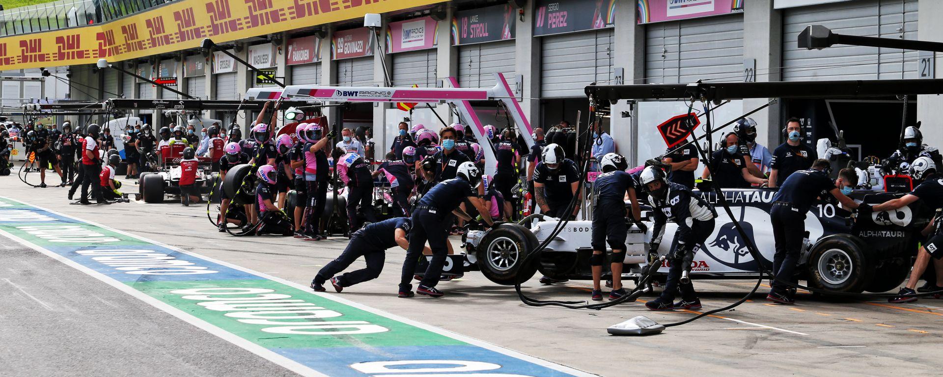F1, GP Austria 2020: la pit-lane del Red Bull Ring