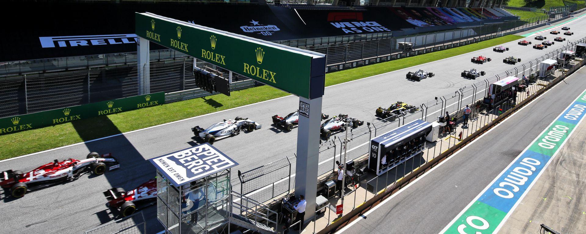 F1 GP Austria 2020, Red Bull Ring: la partenza della gara