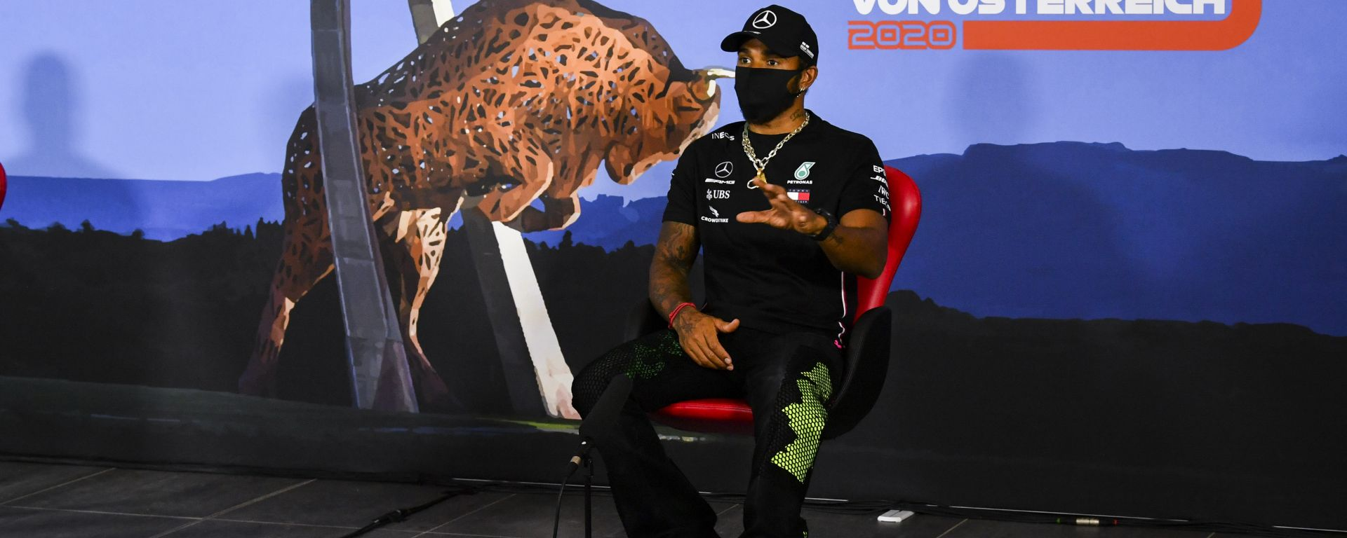 F1 GP Austria 2020, Red Bull Ring: Lewis Hamilton (Mercedes) in conferenza stampa