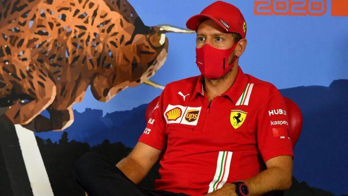 F1 GP Austria 2020, Red Bull Ring: Sebastian Vettel (Ferrari) in conferenza stampa