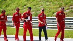 F1 GP Austria 2020, Red Bull Ring: Sebastian Vettel (Ferrari) nel corso della tradizionale