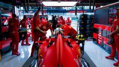 F1 GP Austria 2020, Red Bull Ring: Sebastian Vettel nel box Ferrari