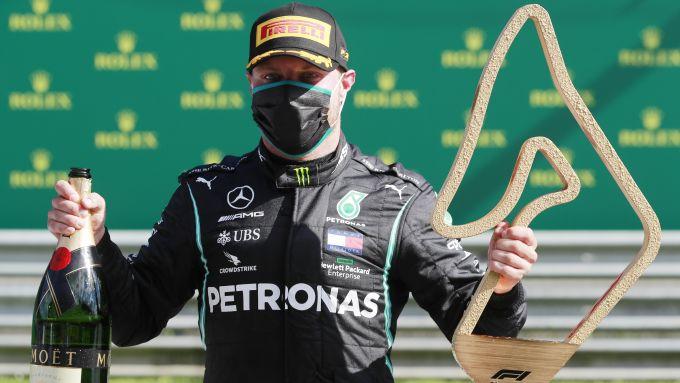 F1 GP Austria 2020, Red Bull Ring: Valtteri Bottas (Mercedes) sul gradino più alto del podio