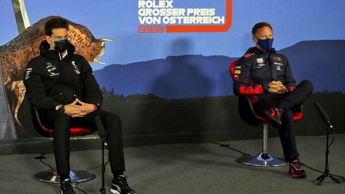F1, GP Austria 2020: Toto Wolff (Mercedes) e Chris Horner (Red Bull) nella conferenza stampa del venerdì