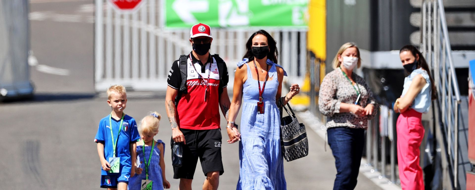 F1, GP Austria 2021: Kimi Raikkonen con la sua famiglia