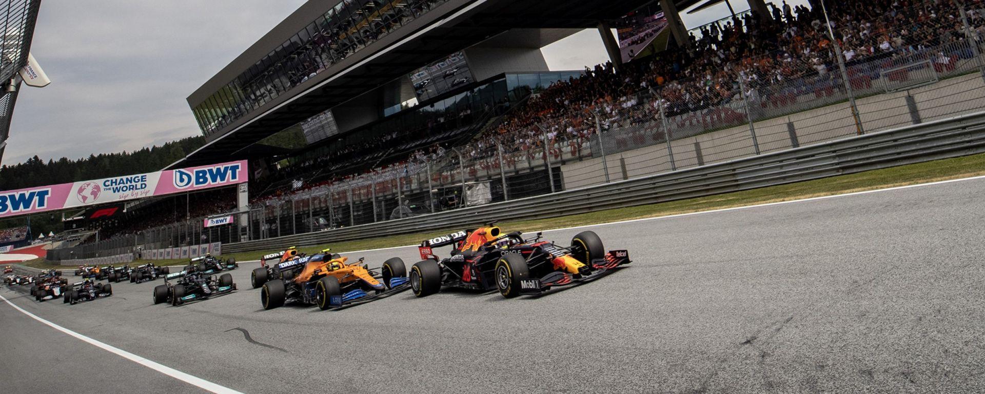F1, GP Austria 2021: la partenza della gara