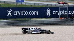 F1, GP Austria 2021: l'escursione sulla ghiaia di Yuki Tsunoda