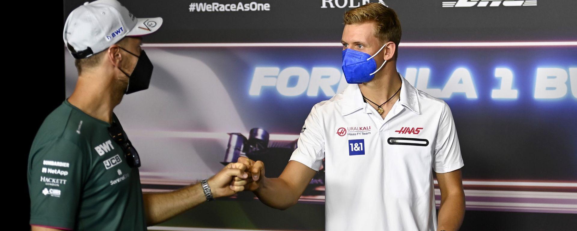 F1, GP Austria 2021: Sebastian Vettel e Mick Schumacher in conferenza stampa