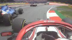 F1 GP Austria 2021, Spielberg: Giovinazzi (Alfa Romeo) passa Alonso (Alpine) in regime di Safety Car