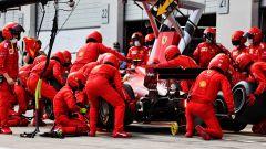 F1 GP Austria 2021, Spielberg: il pit-stop della Ferrari di Carlos Sainz