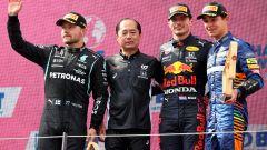 F1 GP Austria 2021, Spielberg: il podio con Verstappen, Bottas e Norris