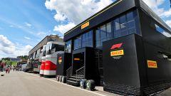 F1 GP Austria 2021, Spielberg: la hospitality Pirelli nel paddock