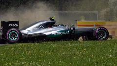 F1 GP Austria - l'incidente di questa mattina di Nico Rosberg che ha comportato la sostituzione del cambio