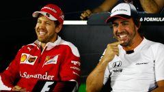 F1 GP Azerbaijan 2016, Baku: Sebastian Vettel (Ferrari) e Fernando Alonso (McLaren)