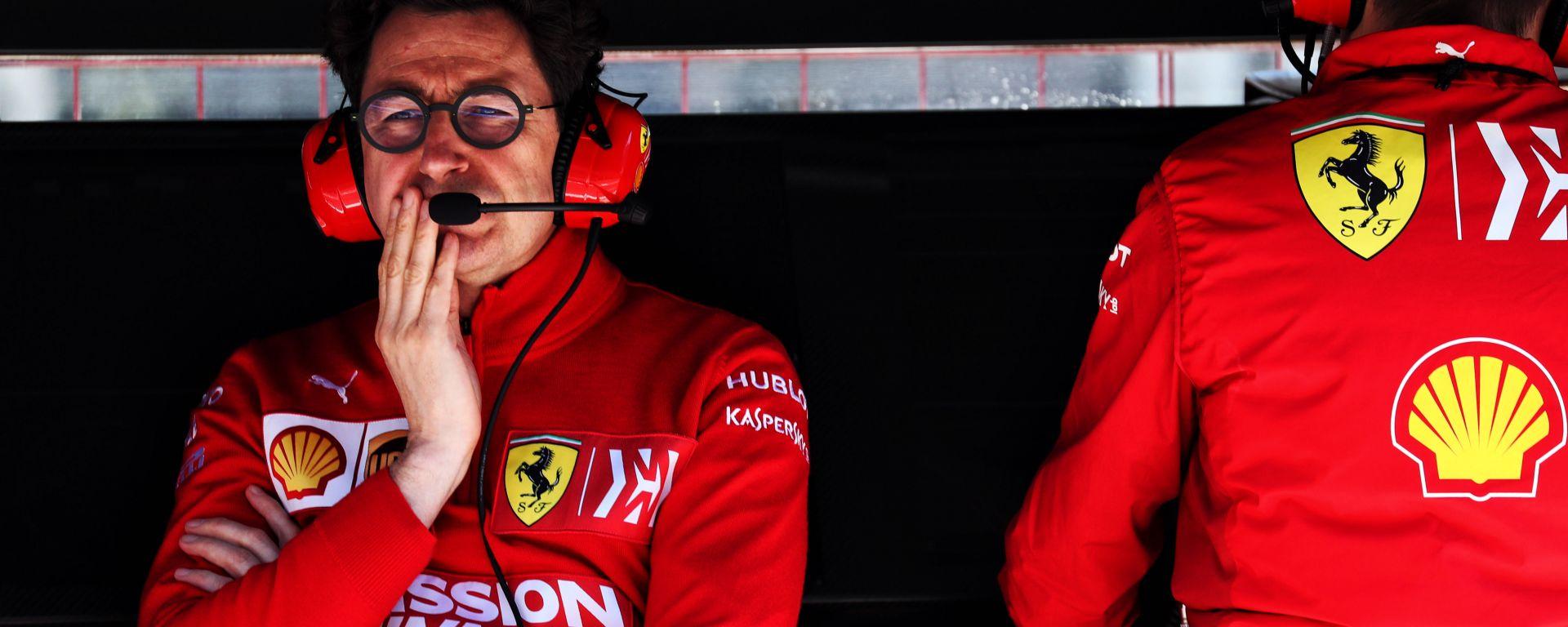 F1 GP Azerbaijan 2019, Baku: Mattia Binotto al muretto della Ferrari